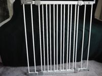 BabyDan flexi-fit baby child safety stair gate for wall mounting.White metal.Unused, part-assembled