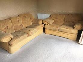 2 piece fabric sofa set 3 seater + 2 Seater like new. Cared for and cleaned.