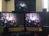 2x Dell 24in IPS U2412M 1x AOC 24in G2460P 144hz Triple Monitor Stand £500