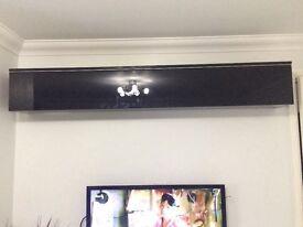 Ikea black gloss floating shelf