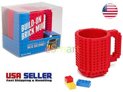 7 Colors Creative Fun DIY Block Puzzle Build-On Brick Mug Building Blocks Mug - Diy Mugs