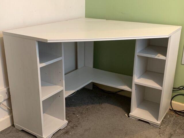 IKEA White Corner Desk BORGSJO | in