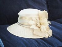 Pale gold ladies hat for Wedding/Mother of Bride