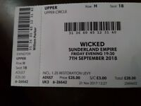 Wicked ticket