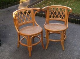 A Lovely Pair Of Bamboo Chairs