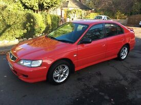 HONDA ACCORD 1.8 VTECH SPORT SE 2001 51 REG RARE RED ALLOYS AC BODYKIT SPOLIER NOT CIVIC TYPE R