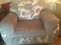 Cream & grey 2 seater & single chair. Only 18 months old, immaculate condition