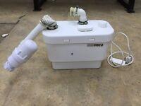 sanivite 3 macerator pump, heatrae sadia handy water heater and sink bowl