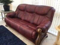 TWO PIECE SUITE WITH FOOTSTOOL