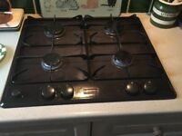 Stoves dark brown gas hob