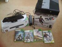 Xbox 360 250GB /Go with Kinect with Fifa 14, Forza Horizon 2, Destiny withTaken King & Halo 4