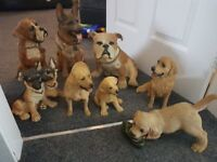 Selection of 8 different dog ornaments