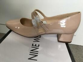 Nine West Wicked size 6 Nude Patent shoes BNIB
