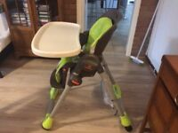 """Highchair """"CHICCO"""" Good condition, reclines"""