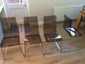 Acrylic chairs (x4)