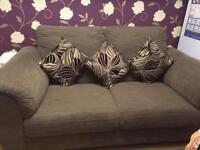 Brown IKEA sofa