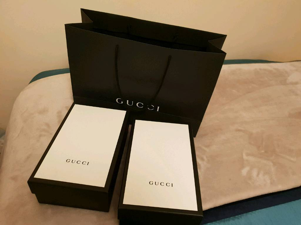 2a30c949b37a Gucci , two empty shoe box's and Gucci shopping bag. Excellent condition.