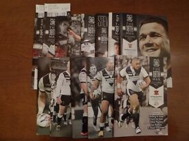 HULL FC 2016 RUGBY LEAGUE PROGRAMMES