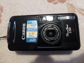 Canon Sureshot S50 camera