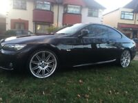 Bmw highline coupe 320i ( outstanding condition) fsh ,long mot ,in metallic black and red leather