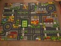 Toy car road mat
