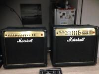 Marshall amplifiers AVT 50 and AVT 100 with pedal