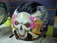 LIQUIDATION DEMI CASQUE STYLE HARLEY D.O.T. $29.99! PINK SKULL