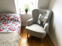 Habitat Grey Wilmot Armchair Midcentury Scandi Look - Excellent Condition