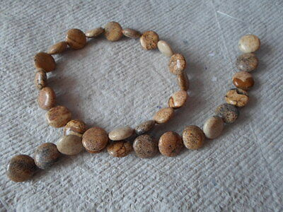 """16"""" Strand of Picture Jasper ~ Coin ~ Beads"""