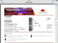 Tennis tickets three available