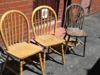 3 chairs all for 5£