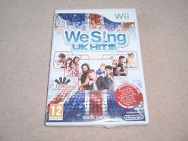 We Sing UK Hits Nintendo Wii Game