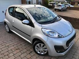 Peugeot 107 Active 1.0L 3Dr In Mint Condition! FULL SERVICE HISTORY/1 Year MOT/HPI Clear