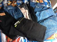 Assortment of designer jeans W32 L32 12/14