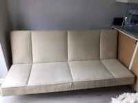 Suede Sofa Bed futon in very excellent condition hardly used in like new condition deliver