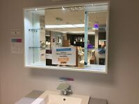 Montrose sliding Bathroom Cabinet with Led Lighting