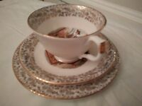 Vintage Bone China Tea Set - 18 Piece