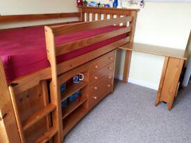 Children's raised mid-sleeper bed by Julian Bowen