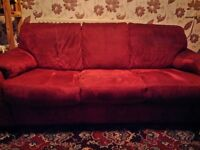 3 Seater DFS sofa, red, good condition - FREE for collection