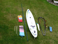 Sailboard & Rig - Mast, Boom & 2 sails, plus Extras....all you need....great condition.