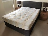 Used, Good condition Double BedFrame (and Mattress if wanted)