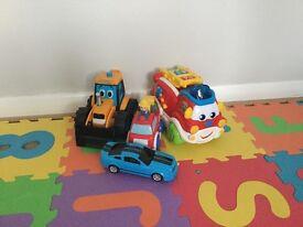 4 vehicles