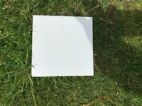 White 6ins square tiles