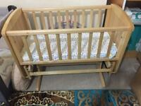 Cotbed in excellent condition swingable