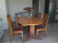 Dining table and chairs - Nathan