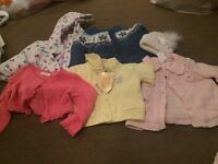 Bundle of baby coats/cardigans/hat