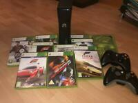 Xbox 360 250gb | Slim Console | 2 controllers included | 10 Games included