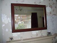Mirror with Mahogany Frame