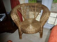 Gold Ratten Chair