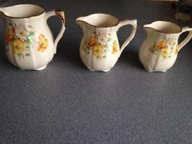 3 Alfred Meakin jugs 1940 Poppies